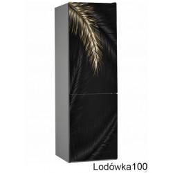 Lodówka liście złoto 100