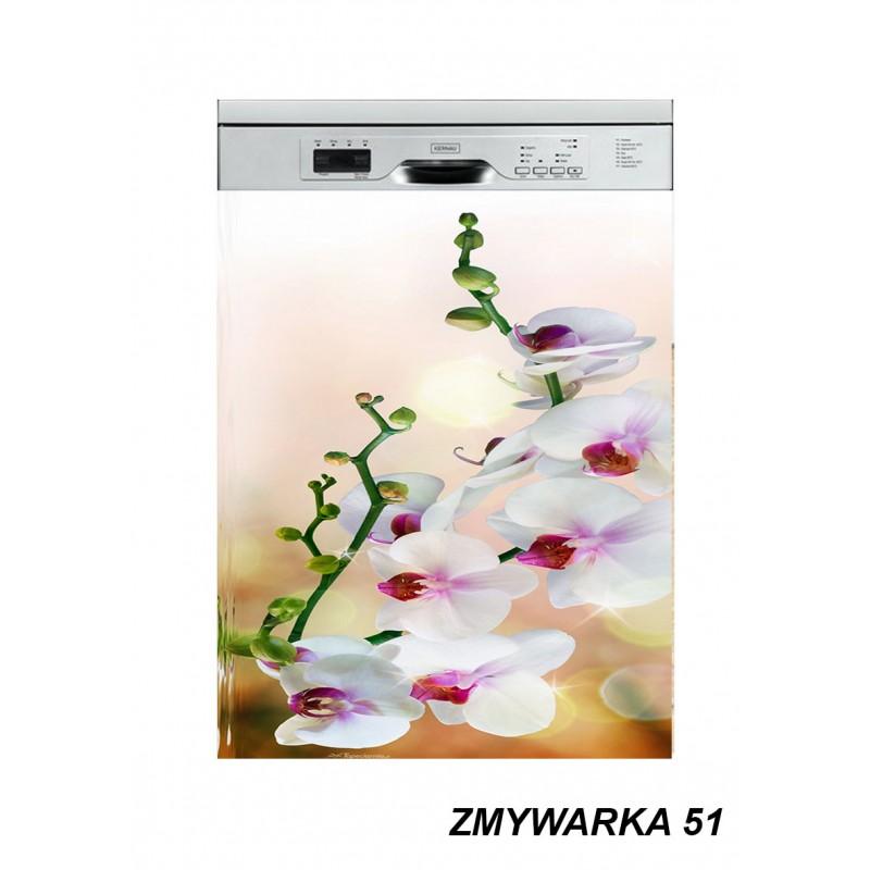 Mata magnetyczna na zmywarkę kwiaty storczyk 51
