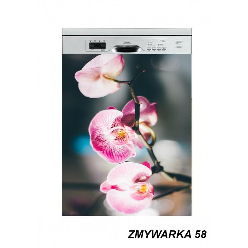 Mata magnetyczna na zmywarkę kwiaty storczyk 58