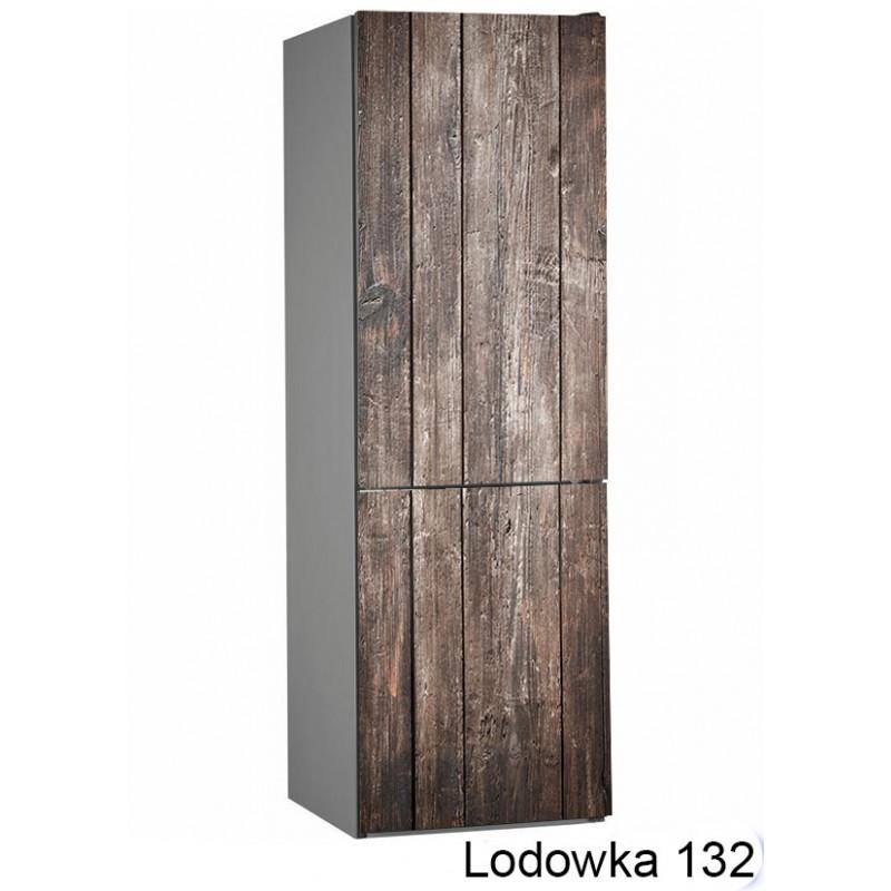 Lodówka drewno  132