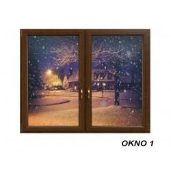 Świąteczna okleina okienna